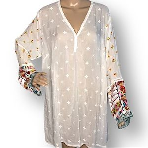 Johnny Was NWT embroidered tunic 1X